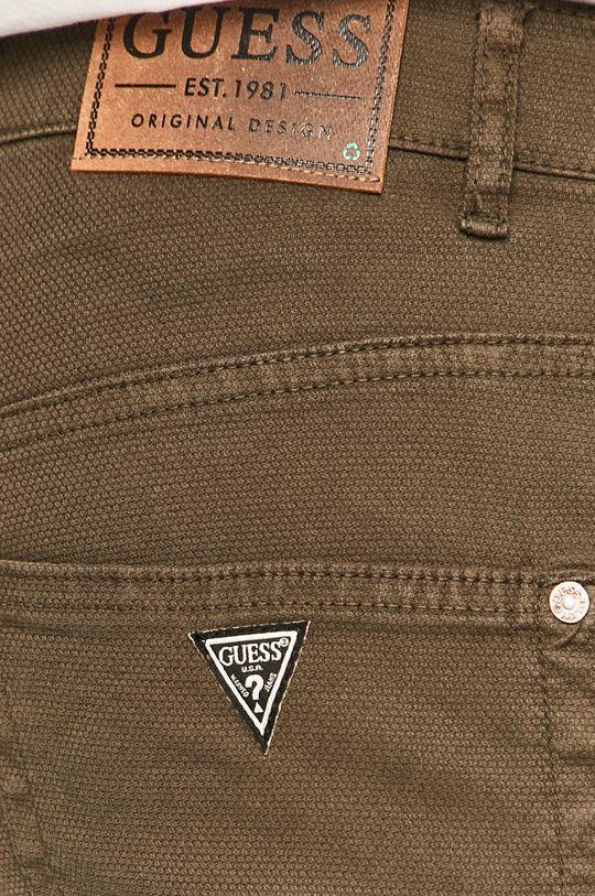 olivová Guess - Kalhoty