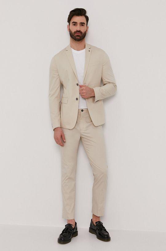 Calvin Klein - Spodnie piaskowy