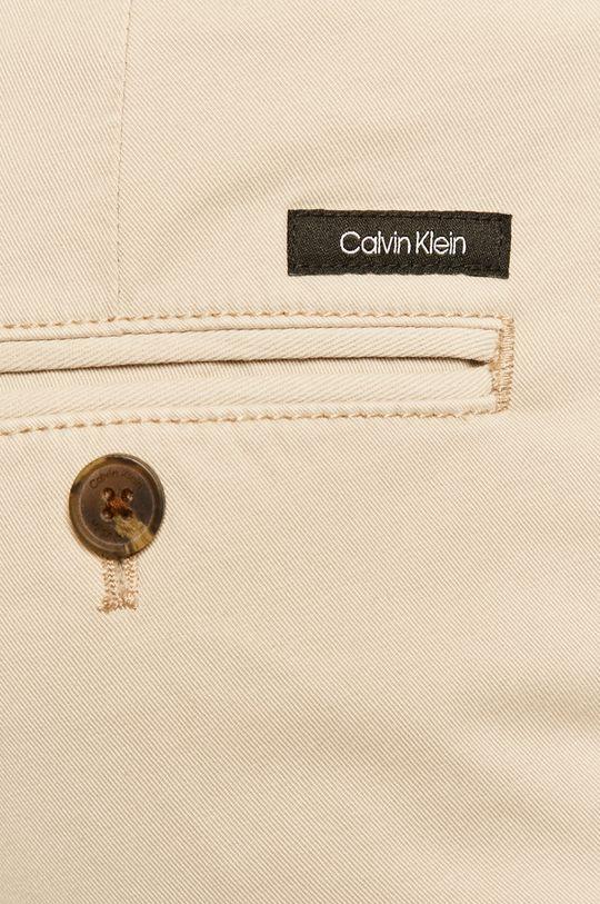 piaskowy Calvin Klein - Spodnie