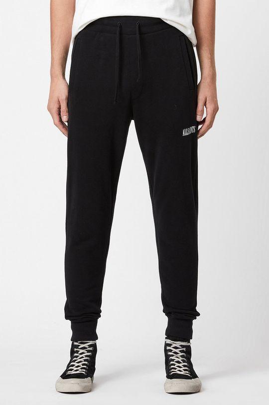 czarny AllSaints - Spodnie Męski