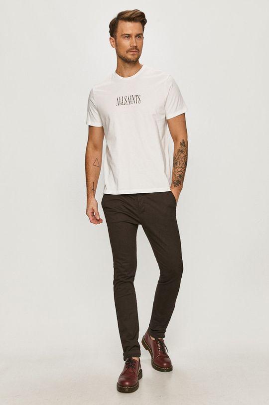 AllSaints - Spodnie mahoniowy
