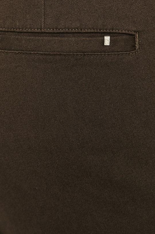 mahoniowy AllSaints - Spodnie