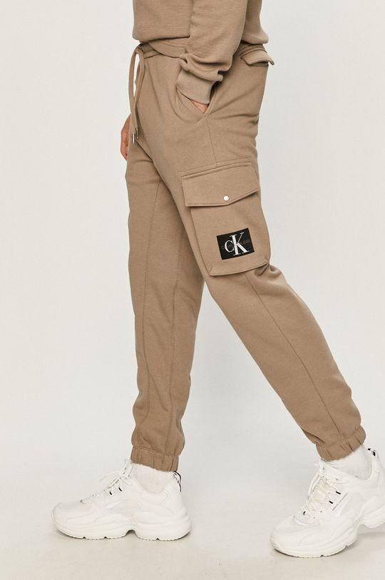 šedá Calvin Klein Jeans - Kalhoty Pánský