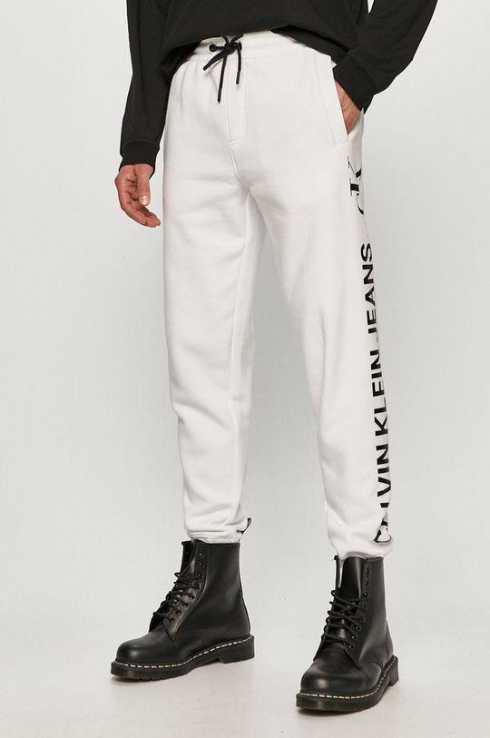 alb Calvin Klein Jeans - Pantaloni De bărbați
