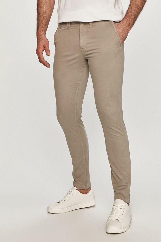 szary Calvin Klein Jeans - Spodnie Męski