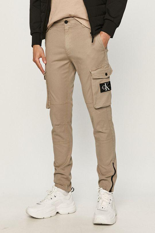 piaskowy Calvin Klein Jeans - Spodnie Męski