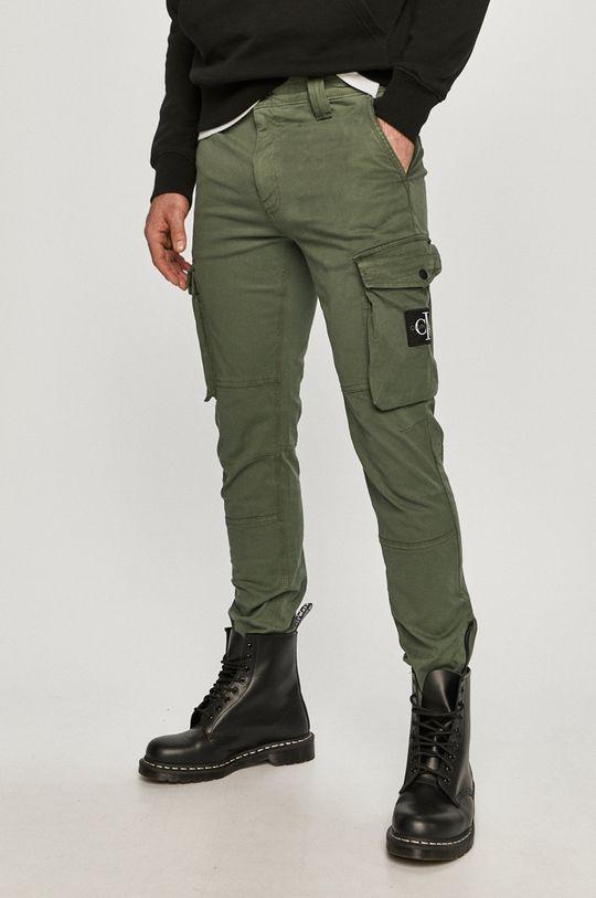 hnedozelená Calvin Klein Jeans - Nohavice Pánsky