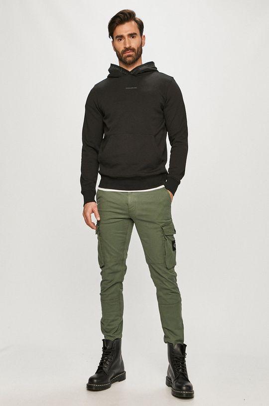 Calvin Klein Jeans - Nohavice hnedozelená