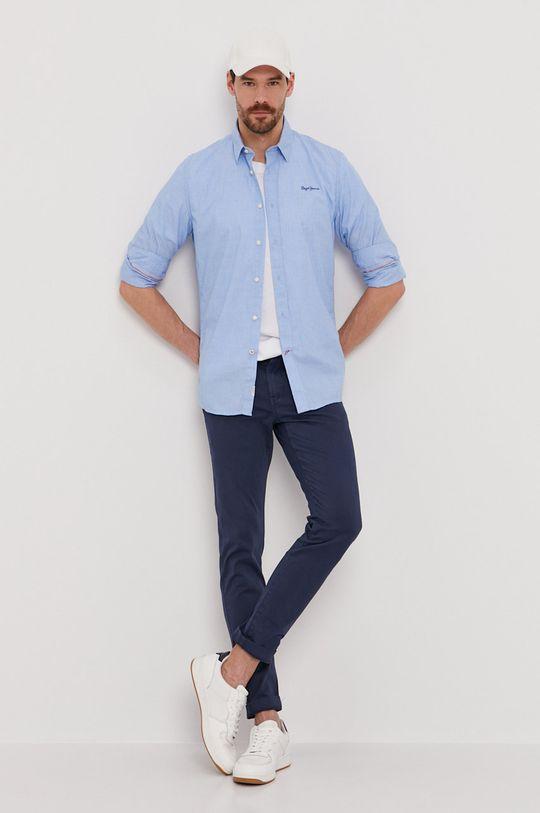 Pepe Jeans - Kalhoty Charly námořnická modř