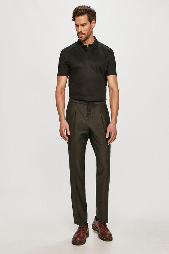 Hugo - Pantaloni verde inchis