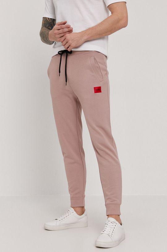 beżowy HUGO - Spodnie 50447963 Męski