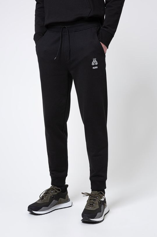 czarny Hugo - Spodnie Męski