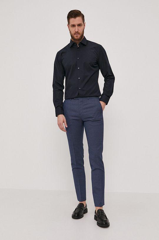 Hugo - Spodnie niebieski
