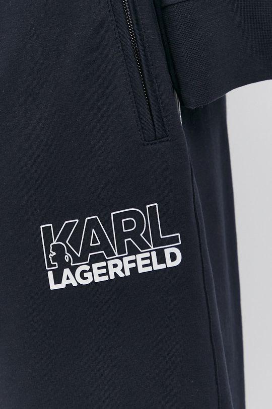 granatowy Karl Lagerfeld - Spodnie