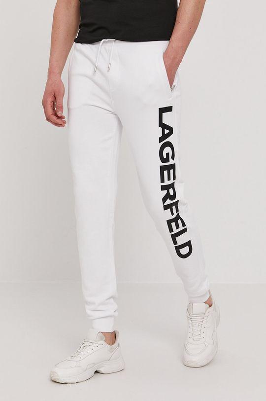 biały Karl Lagerfeld - Spodnie Męski