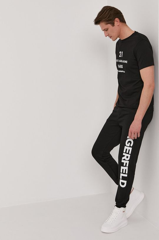 czarny Karl Lagerfeld - Spodnie Męski