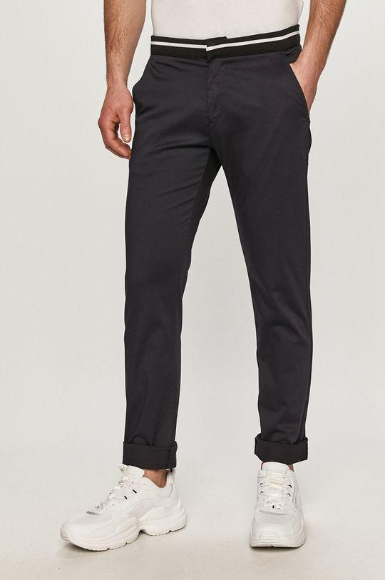 granatowy Karl Lagerfeld - Spodnie Męski