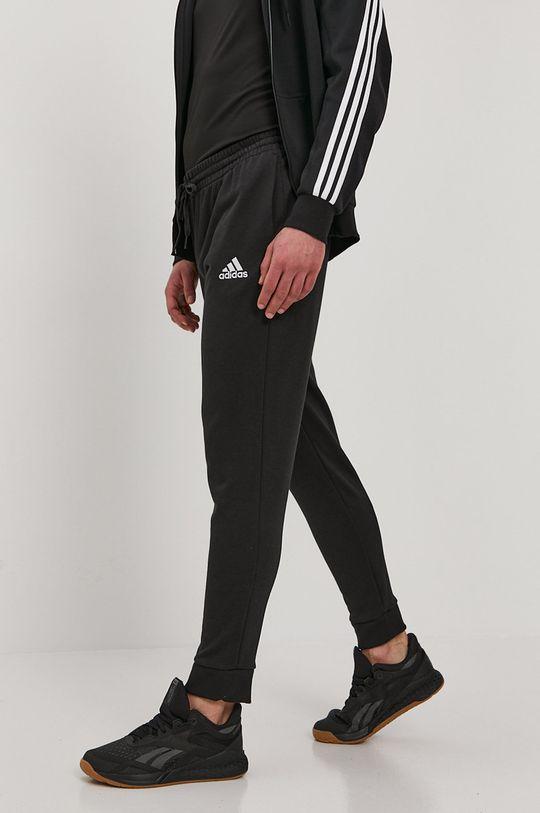 černá adidas - Kalhoty Pánský