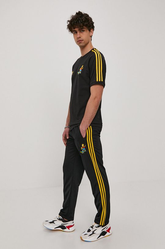 czarny adidas Originals - Spodnie x The Simpsons