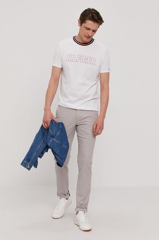 Tommy Hilfiger - Spodnie jasny szary