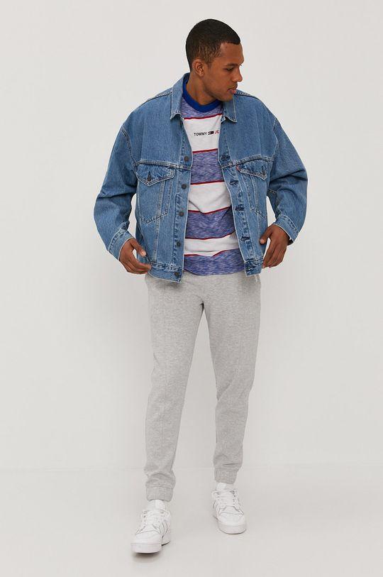 Tommy Jeans - Kalhoty světle šedá