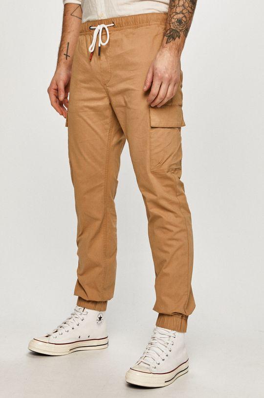 béžová Tommy Jeans - Kalhoty Pánský