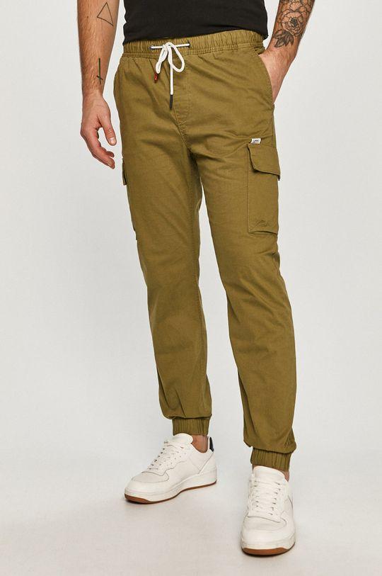 svetlá olivová Tommy Jeans - Nohavice Pánsky