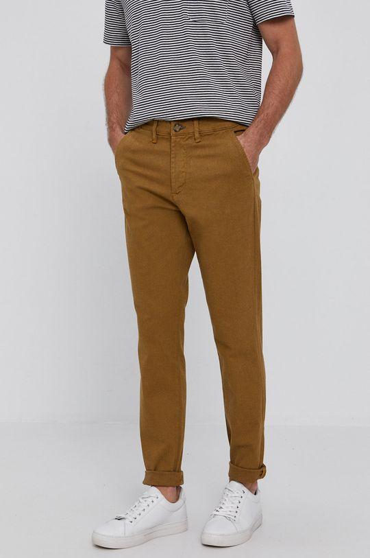 ciepły oliwkowy Selected - Spodnie Męski