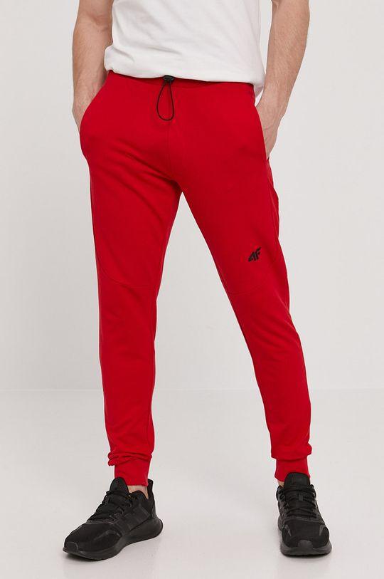 červená 4F - Kalhoty Pánský