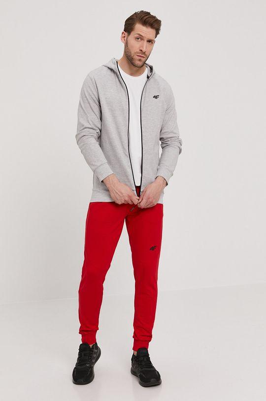 4F - Kalhoty červená