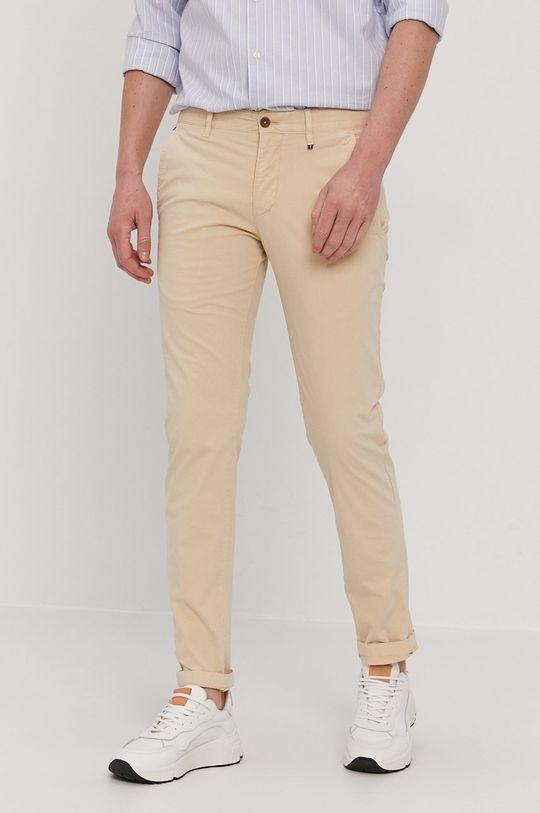 kremowy Marc O'Polo - Spodnie Męski