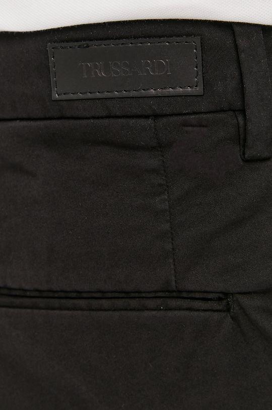 czarny Trussardi - Spodnie