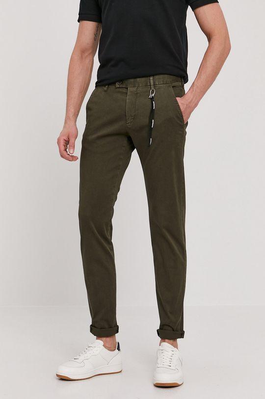 oliwkowy Strellson - Spodnie Męski