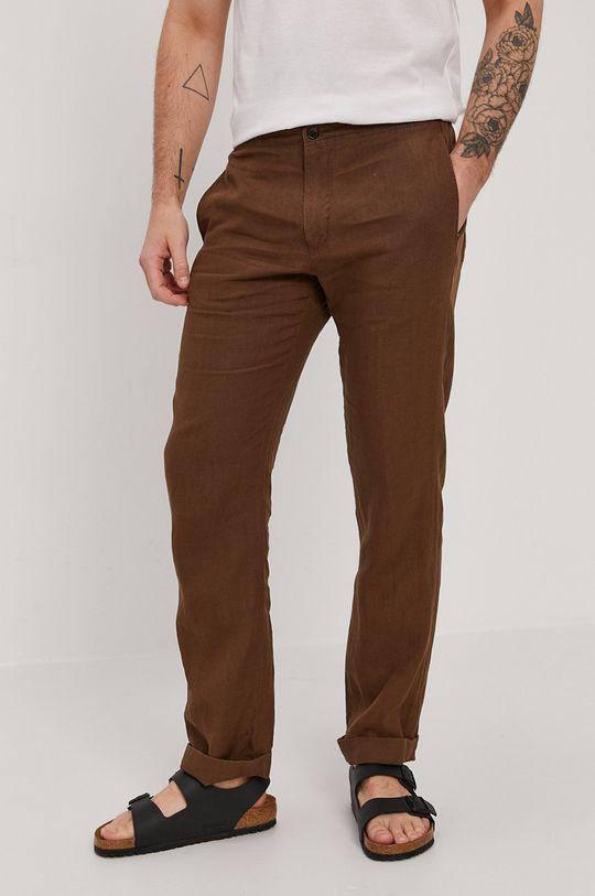 brązowy Strellson - Spodnie Męski