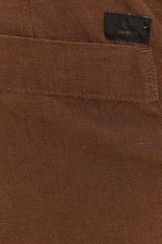 brązowy Strellson - Spodnie