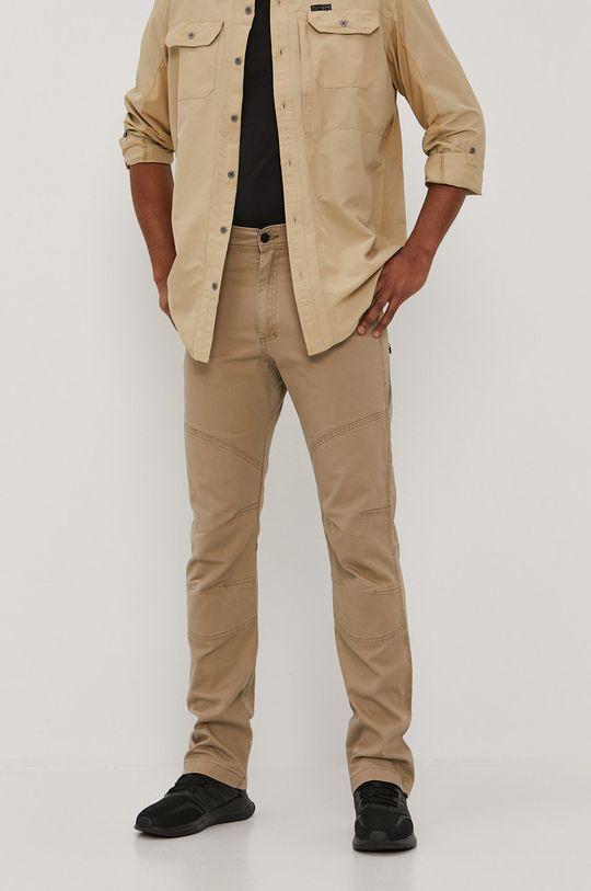 kawowy Wrangler - Spodnie ATG Męski