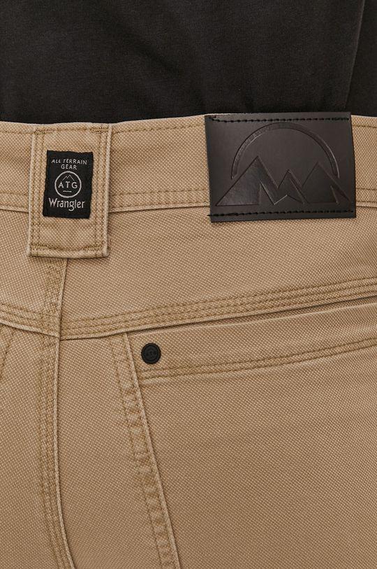 kawowy Wrangler - Spodnie ATG