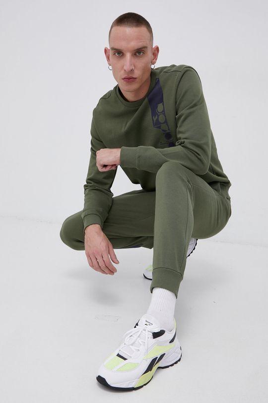 brązowa zieleń Diadora - Spodnie Męski