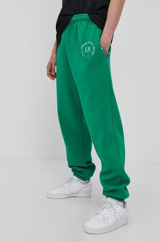 Local Heroes - Spodnie ostry zielony