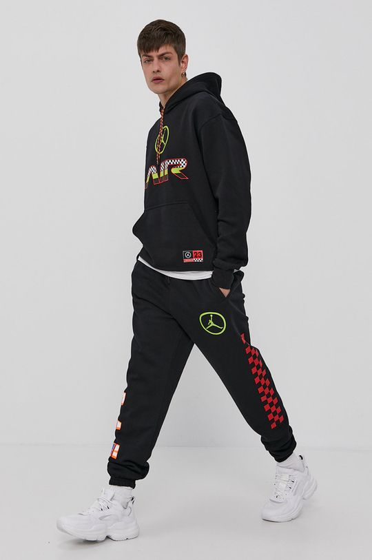 czarny Jordan - Spodnie Męski
