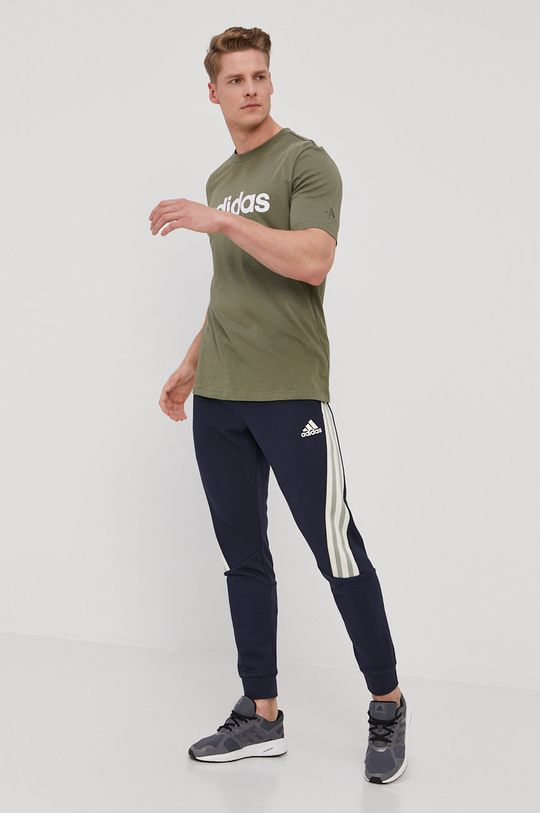 adidas Performance - Nohavice tmavomodrá