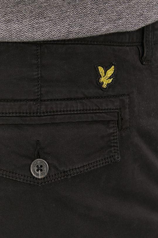 czarny Lyle & Scott - Spodnie