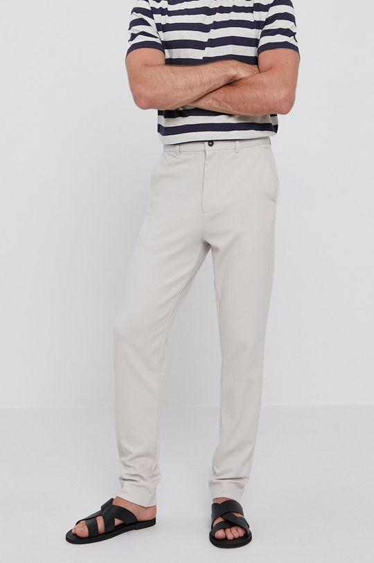 světle šedá Selected - Kalhoty Pánský