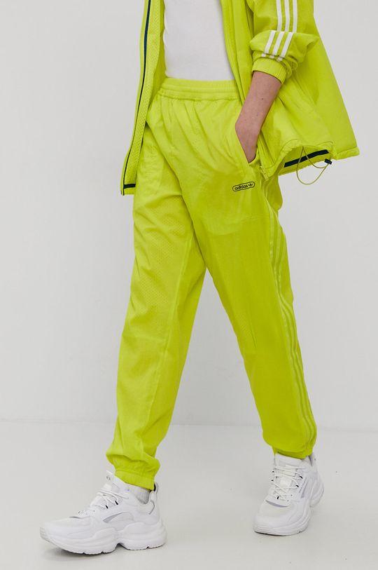 żółty adidas Originals - Spodnie dwustronne Męski
