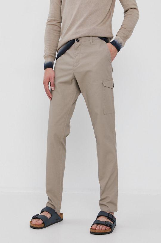 beżowy Sisley - Spodnie Męski