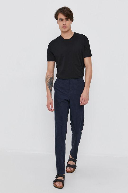 Sisley - Kalhoty námořnická modř