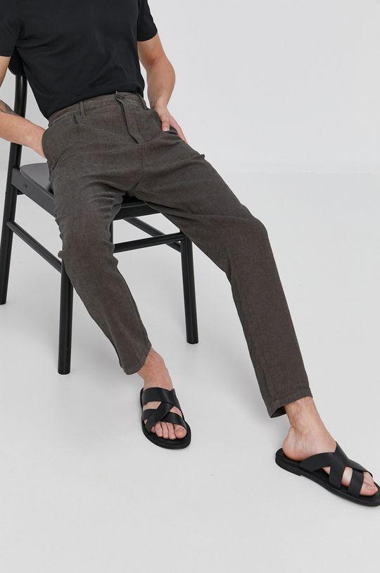 olivová Sisley - Kalhoty Pánský