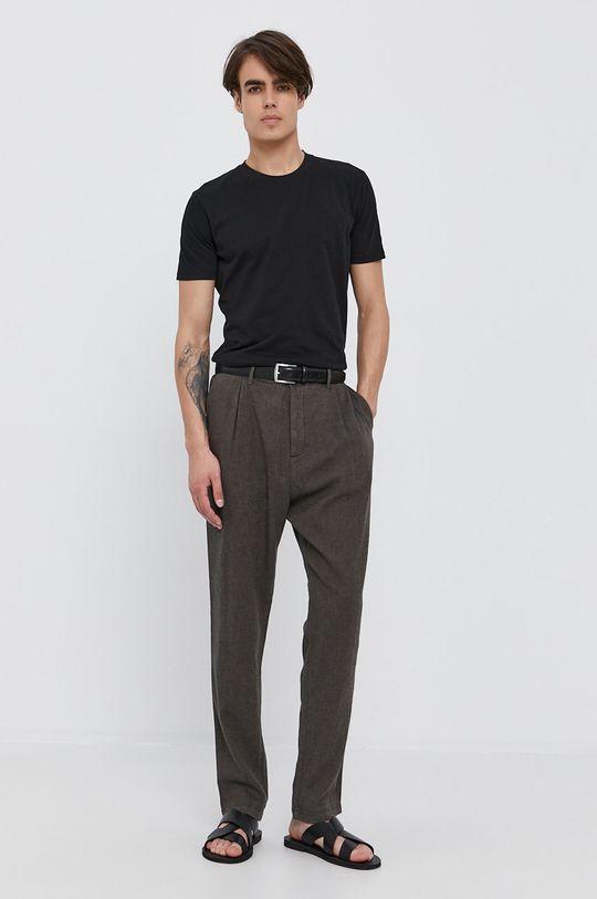 Sisley - Kalhoty olivová
