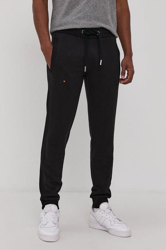 czarny Superdry - Spodnie Męski