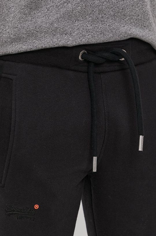 czarny Superdry - Spodnie
